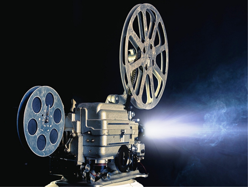 Of a movie projector